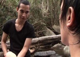 Nicolas and Alex Barebacking in Naure