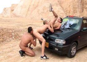 Latin Barebacking Gay Threesome
