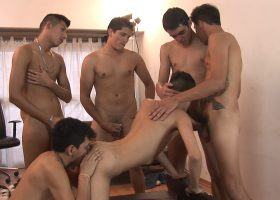 Latin Bukakke Sex Orgy